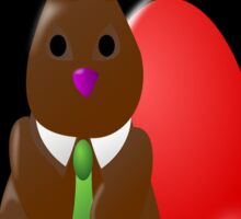 Chocolate Easter Bunny Egg Sticker
