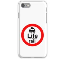 Rail v Life - White iPhone Case/Skin