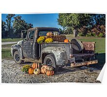 '56 Ford F100: Autumn Poster