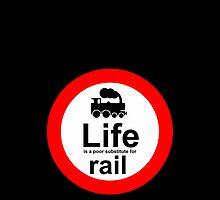 Rail v Life - Black by Ron Marton