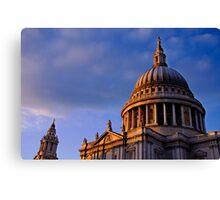 St Paul's Dome in Colour, London, UK Canvas Print