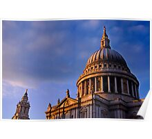 St Paul's Dome in Colour, London, UK Poster