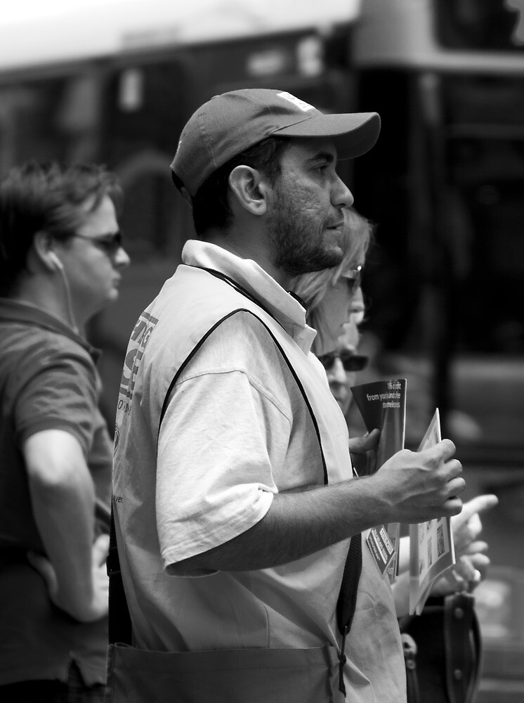 The Big Issue Seller - Brisbane CBD by Jordan Miscamble