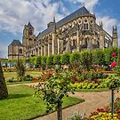 France. Bourges. Cathedral & Garden. by vadim19