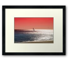 Sailing on the Northsea in the Evening Sun  Framed Print