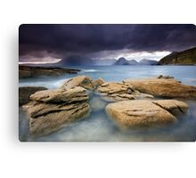 Isle of Skye : Elgol Drenching Canvas Print