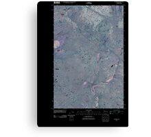 USGS Topo Map Washington State WA Telford 20110401 TM Inverted Canvas Print