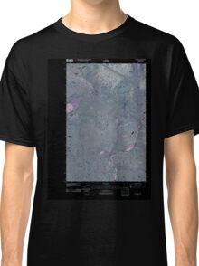 USGS Topo Map Washington State WA Telford 20110401 TM Inverted Classic T-Shirt