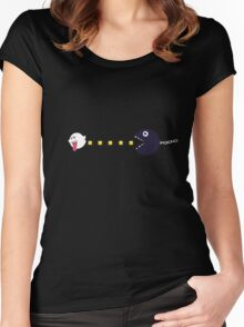 Pac Man- Mario Bros style Women's Fitted Scoop T-Shirt