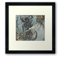 Gothic Mermaid Fantasy  Framed Print