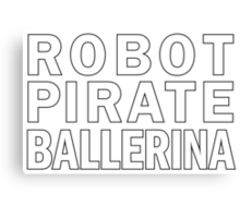 Robot Pirate Ballerina Canvas Print