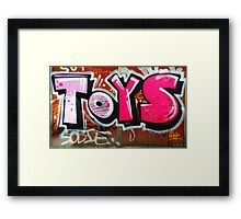 Toys are us  Framed Print