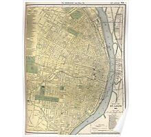 Vintage Map of St. Louis (1891) Poster
