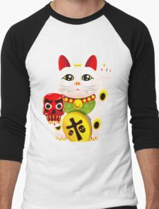 Maneki neko f u Men's Baseball ¾ T-Shirt