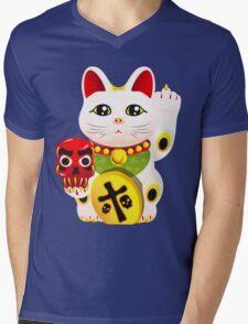 Maneki neko f u Mens V-Neck T-Shirt