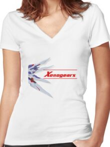Xenogears Women's Fitted V-Neck T-Shirt