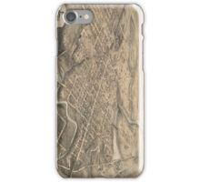 Vintage Pictorial Map of St. Thomas Ontario (1875) iPhone Case/Skin