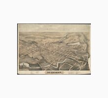 Vintage Pictorial Map of St. Thomas Ontario (1875) Unisex T-Shirt