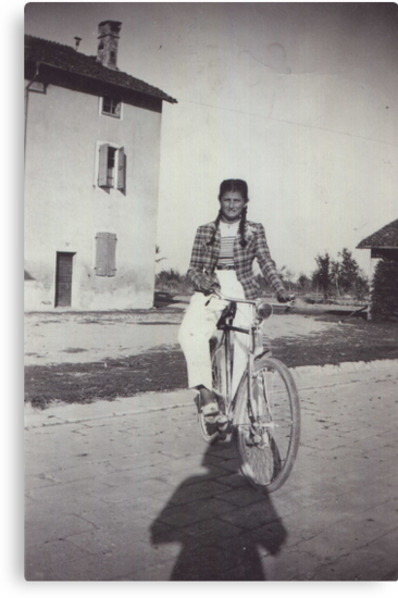 My mom bicycling 70 years ago...&-3500 visualizzaz.agosto 2013 --VETRINA RB EXPLORE 27 GENNAIO 2012 --- by Guendalyn