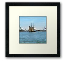 NYC sea shore Framed Print