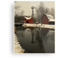 A winter scene in Indiana..(Cyberspace is no place for the real world...Plastic minds got no soul..Electric hearts beat in time on the last day..They can't see any way) Metal Print