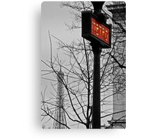 Paris Metro Sign Canvas Print