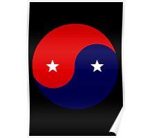 American Yin Yang Poster