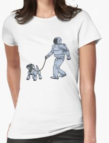 A Robot's Best Friend Womens Fitted T-Shirt