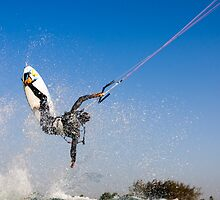 Kitesurfing in the Mediterranean sea  by PhotoStock-Isra