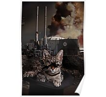 Steampunk Sid Kitten Overlord Poster