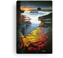 Sunset at Gull Rock Canvas Print