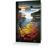 Sunset at Gull Rock Greeting Card