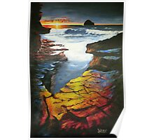 Sunset at Gull Rock Poster