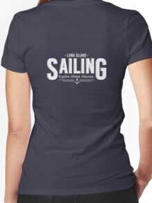 Long Island Sailing Women's Fitted V-Neck T-Shirt