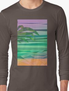 dream island in the middle of the ocean Long Sleeve T-Shirt