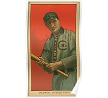 Benjamin K Edwards Collection Solly Hoffman Chicago Cubs baseball card portrait Poster