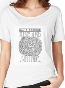 Rise and Shine, Greenie. Women's Relaxed Fit T-Shirt