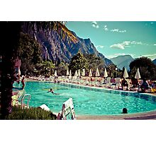 Lake Garda Pool, Italy by Matt Watson Photographic Print