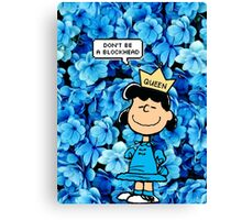 Lucy Peanuts Queen Edit Canvas Print