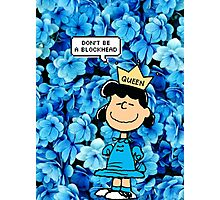 Lucy Peanuts Queen Edit Photographic Print