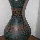 Vase/Black Ceramic - Jarrón/Ceramica negra by PtoVallartaMex