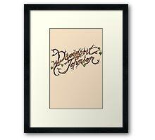 Davenport Johnson Vine LOGO T-Shirt Framed Print