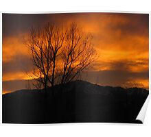 January Sunset (4) - Colorado Springs Poster