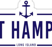 Hipster East Hampton  Sticker