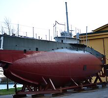 Swedish Navys first submarine Hajen 1 by Staa