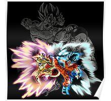 Golden Frieza Vs Super Saiyan Blue Goku Poster