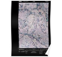 USGS Topo Map Washington State WA Arden 20110406 TM Inverted Poster