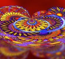 Tilt-a-Whirl. abstract by Alma Lee by Alma Lee