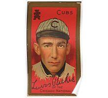 Benjamin K Edwards Collection Lewis Richie Chicago Cubs baseball card portrait Poster