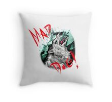 Mad Dog Throw Pillow